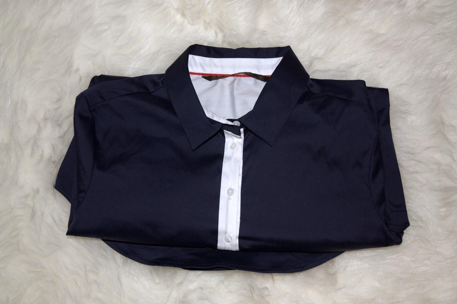 granatowa koszula z Zary