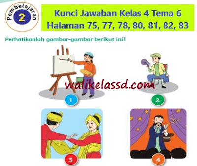 Kunci Jawaban Kelas 4 Tema 6 Halaman 75, 77, 78, 80, 81, 82, 83