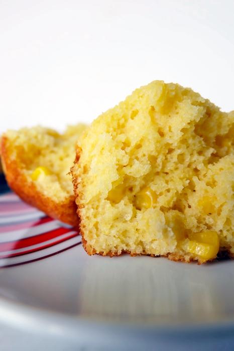 honey cornbread muffin interior