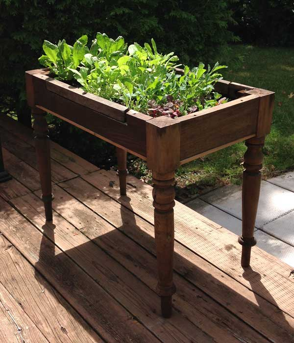 Repurpose old furniture #creativegreenliving