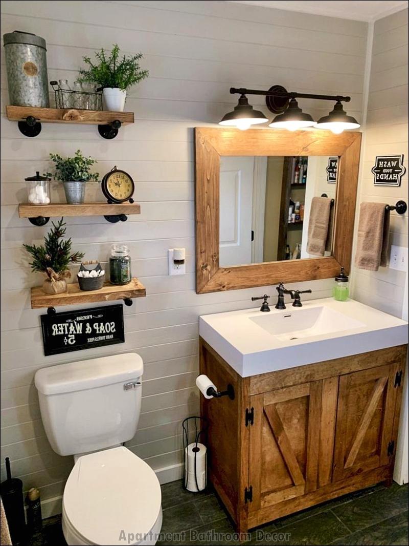 Small and Simple Apartment Bathroom Decor Ideas