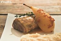 Solomillo con peras a la mostaza
