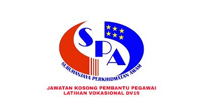 Permohonan Jawatan Kosong Pembantu Pegawai Latihan Vokasional DV19 2019
