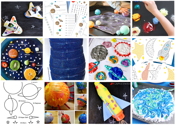 19 Exploring Outer Space Activities Crafts And Printables For Kids