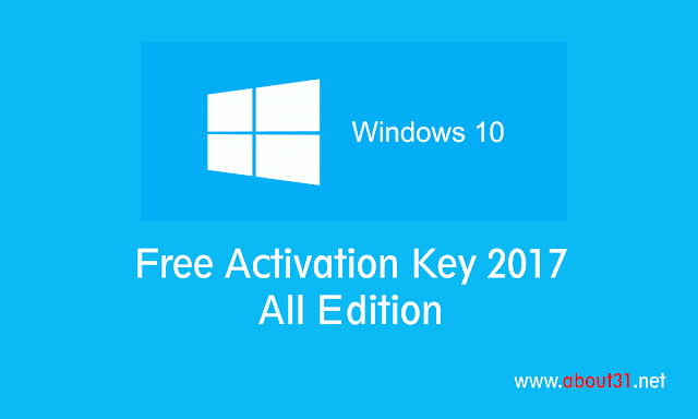 Windows 10 Full Version Activation Key 2017