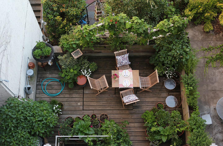 66 square feet plus summer living for Piante per terrazzi