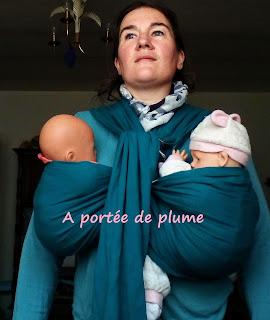 sling barbu 4 anneaux portage jumeaux bébé maman babywearing twins baby colimaçon