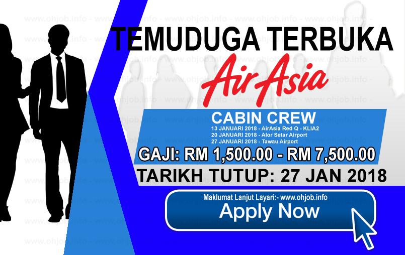Jawatan Kerja Kosong AirAsia Berhad logo www.ohjob.info januari 2018