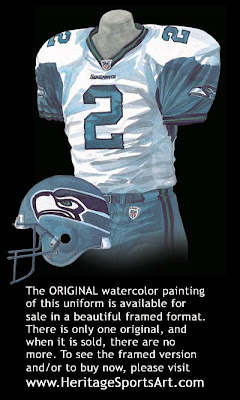 Seattle Seahawks 2002 road uniform