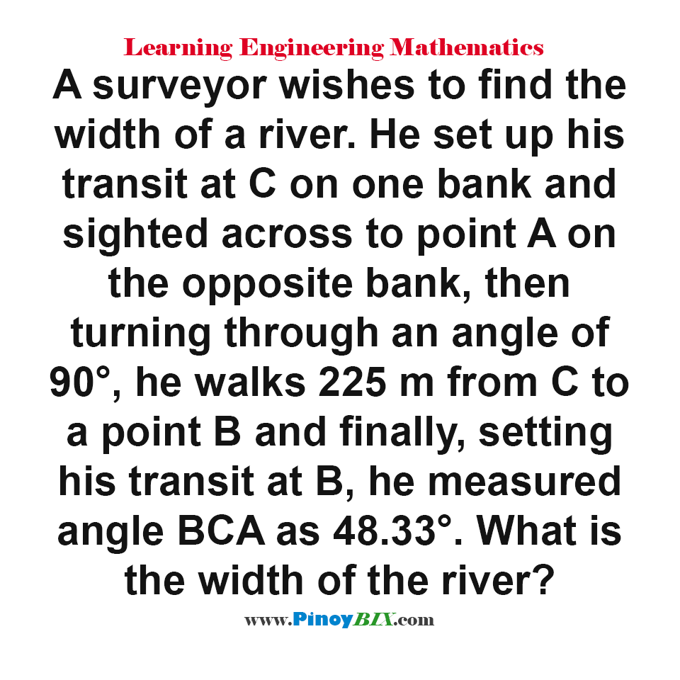 What is the width of the river?
