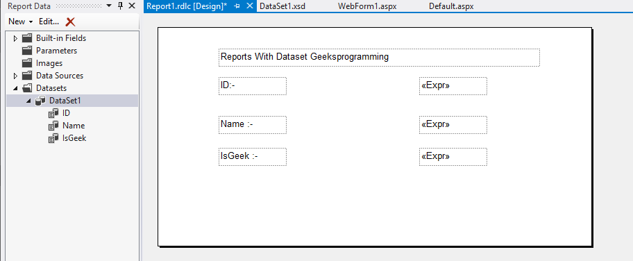 Using Report Viewer with Dataset Asp net Csharp and vb
