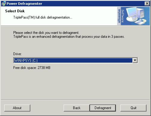 Supratim Sanyal's Blog: Power Defragmenter GUI: Choose Drive to Defragment