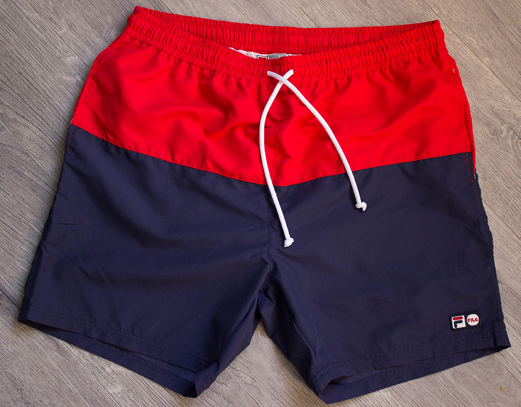 FILA Red and Navy Swimshorts