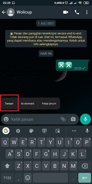 Cara Membuat Emoticon Kotak Silang di Whatsapp 3