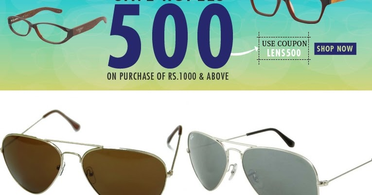 1419cda03456 Get Rs 500 OFF on Already Discounted Fastrack, MTV, Ray Ban Sunglasses ~  Stealify