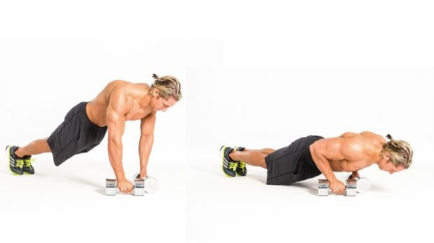 3B Narrow dumbbell press-up
