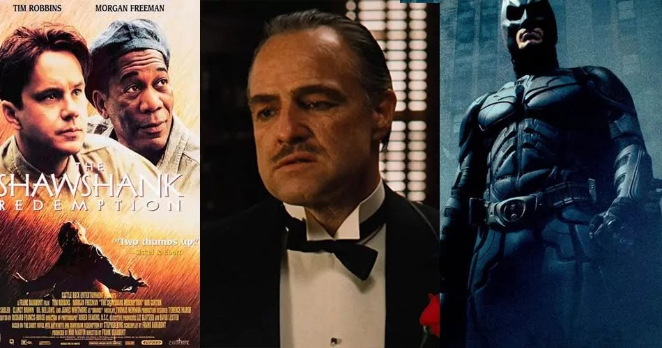 The Shawshank Redemption, The Godfather, The Dark Knight, Movie Posters