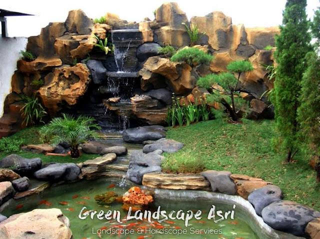 Jasa Pembuatan Relief Kolam Tebing Ponorogo | Tukang Dekorasi Relief Taman