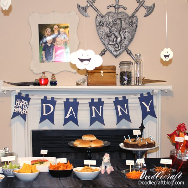 Throw a Diablo 3 themed party for a birthday with little whimsyshire clouds, lots of fun food and of course, diablo.