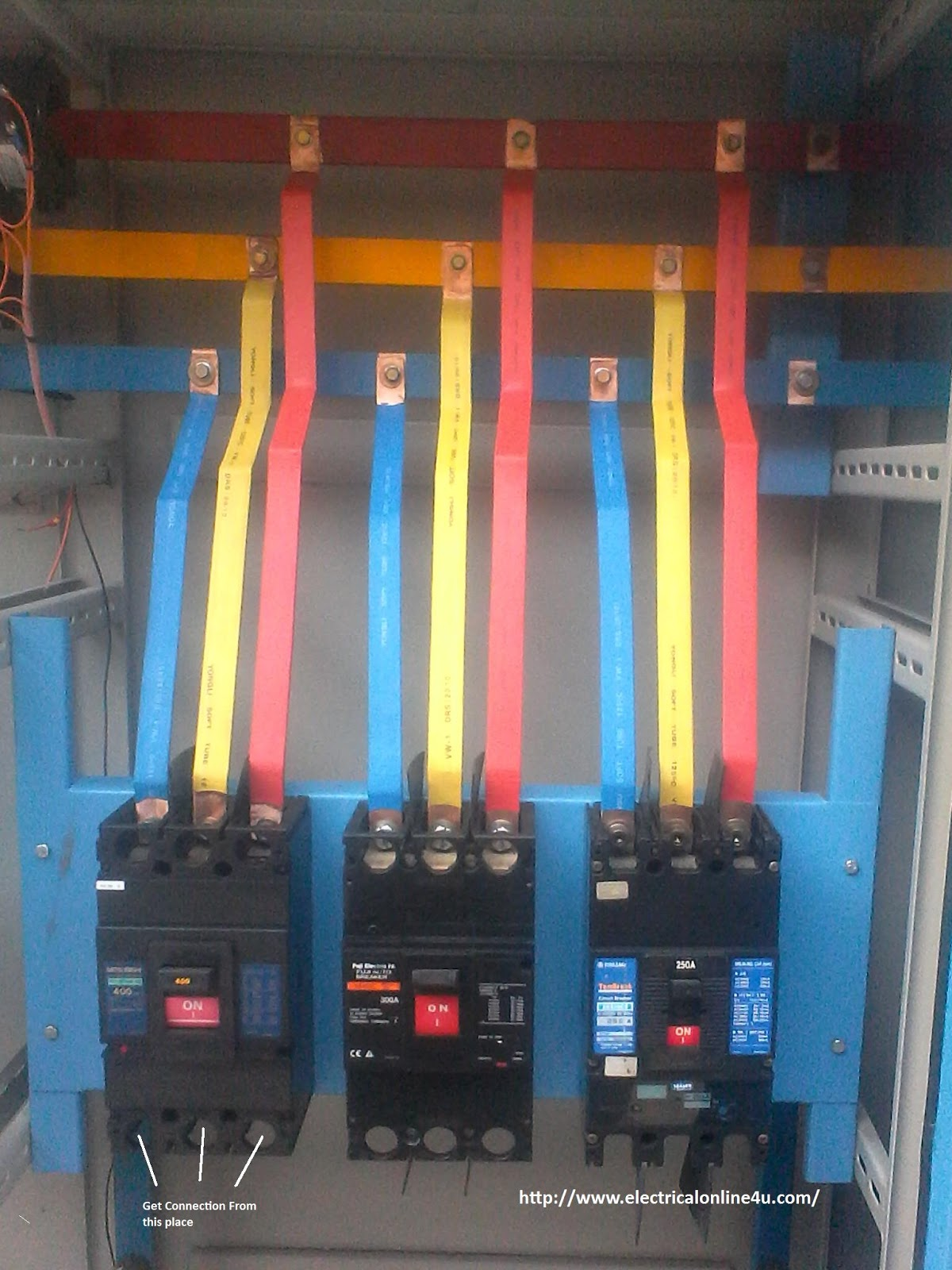 circuit breaker installation for three phase supply 3 phase panel rh electricalonline4u com