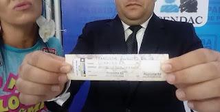 Paraíba de Prêmios não fraudou sorteio e auditor da Lotep mostra canhoto do ganhador