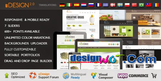 uDesign – Best Powerful Responsive WordPress Theme