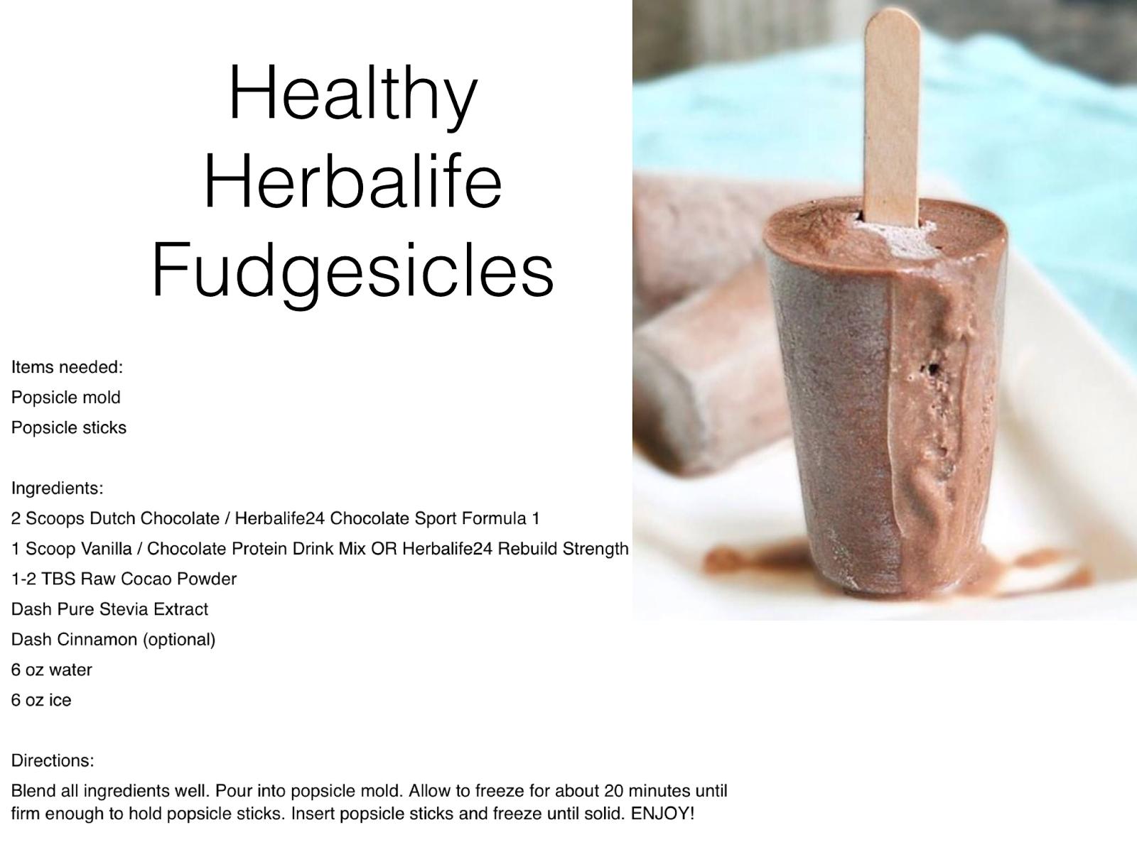 Healthy Recipes Healthy Herbalife Fudgesicles