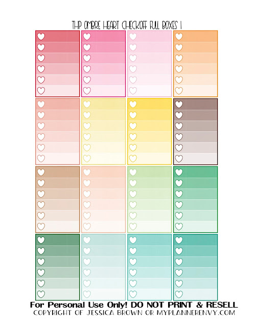 Free Printable Ombre Heart Checkoff Full Boxes 1 of 3 for the Happy Planner from myplannerenvy.com