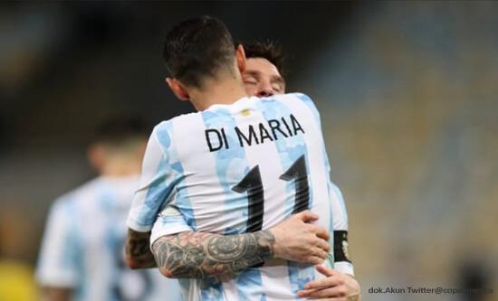 Sepakbola, Copa America, Argentina, Brasil, Lionel Messi, Angel Di Maria, Neymar Jr.