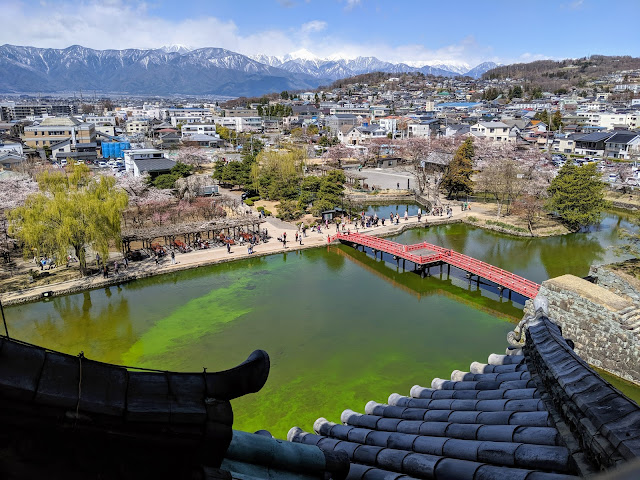 View from the top of Matsumoto Castle
