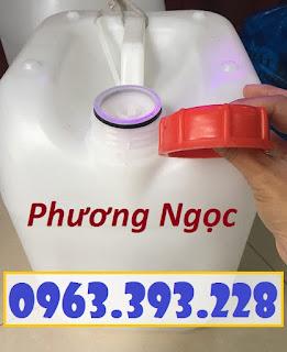 Can nhựa vuông 10 Lít, can nhựa 4 núm nhựa HDPE, can nhựa đựng hóa chất 83eb8a051d2dfd73a43c