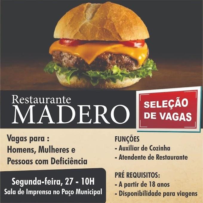 Madero está contratando moradores de Paulínia