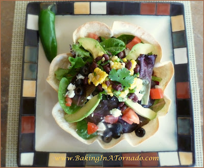 Summer Salad Tostada | www.BakingInATornado.com | #recipe #salad