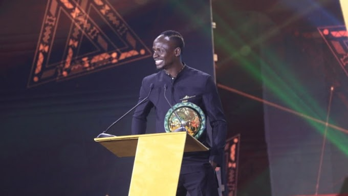 Sadio Mane wins CAF African Player of the Year award