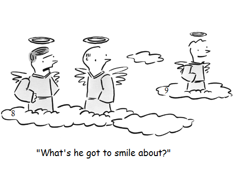 Funny Cloud 9 Heaven Cartoon Joke Picture