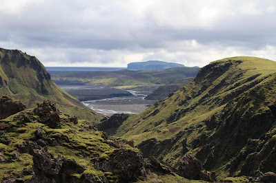 Start of the Hike, Looking Back Toward The Ring Road and Hjörleifshofði