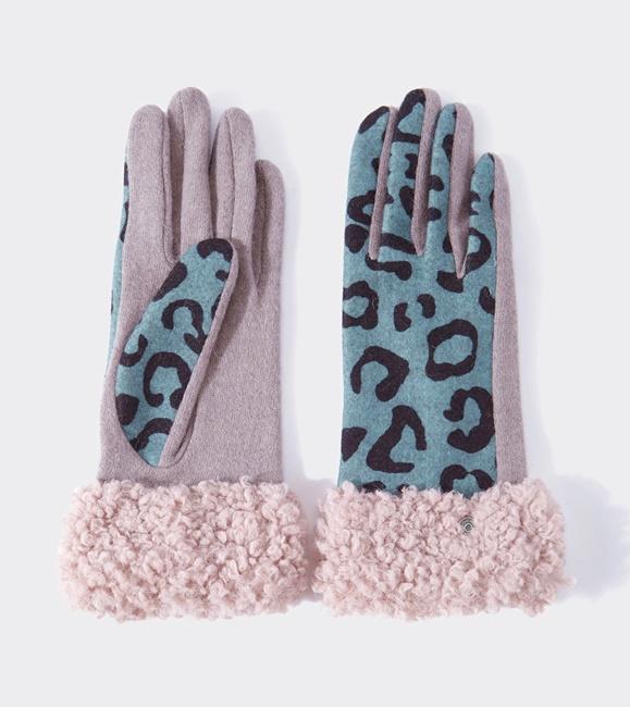 guantes bicolor animal print
