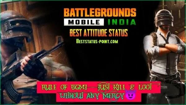 BGMI Best Status