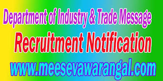 Department of Industry & Trade Message Recruitment Notification