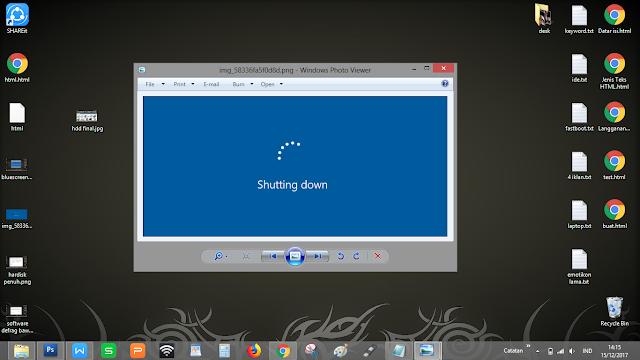 "Tampilan ""Shutdown"" pada OS Windows 8/10, hampir sama"