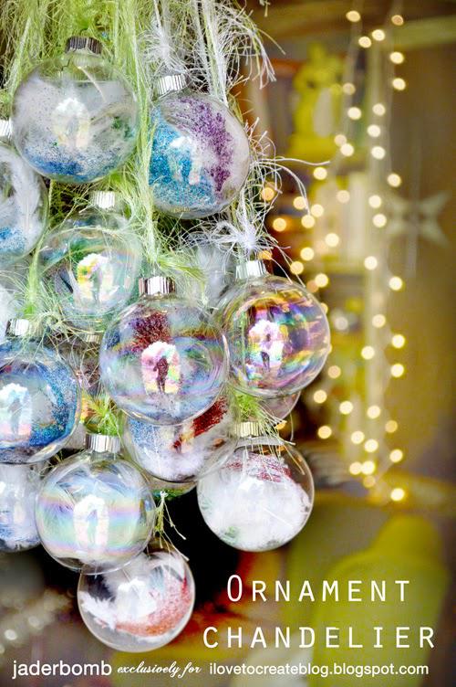 Diy Ornament Chandelier Ilovetocreate
