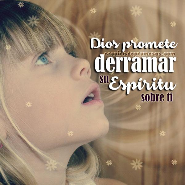 derramará mi espíritu reflexiones cristianas con imágenes arcoiris de promesas
