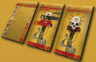 Yellow Skull Theme For YOWhatsApp & GB WhatsApp By Robsson