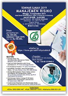 Seminar Ilmiah PATELKI DPC Kota Semarang 2019  Manajemen Resiko