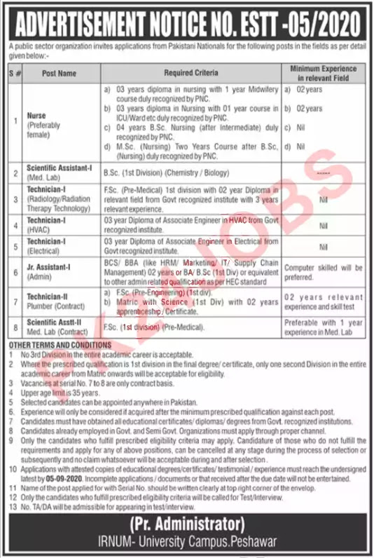 Pakistan Atomic Energy Commission PAEC Jobs 22 August 2020 Job Advertisement in Newspaper