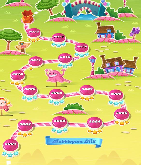 Candy Crush Saga level 8001-8015