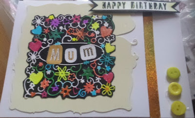 Happy birthday Mum card  - C5