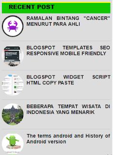 cara membuat posting terbaru di blog