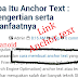 Apa Itu Anchor Text : Pengertian serta manfaat
