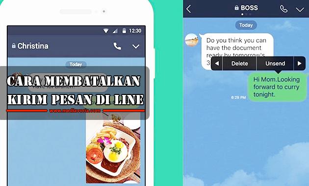 Cara membatalkan kirim pesan di Line